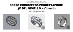 Corso Rhinoceros progettazione 3D del gioiello - 1° livello