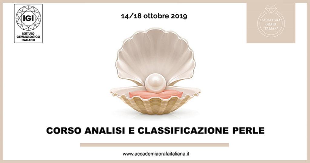 corso I.G.I. analisi e classificazione perle Catania